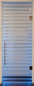 Extra klaar securit glas met zandstraling 10 mm
