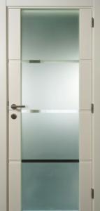 Securit glasdeur in mdf stijlen